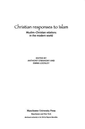 Christian Responses to Islam PDF