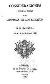 Consideraciones sobre las causas de los Romanos y de su decadencia