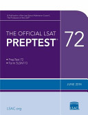 Official LSAT Preptest 72  June 2014 LSAT Book