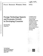 Foreign Technology Imports and Economic Growth in Developing Countries