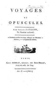 Voyages et opuscules