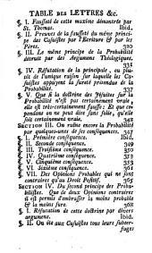 Les provinciales ou Lettres écrites par Louis de Montalte à un provincial de ses amis & aux RR. PP. Jésuites sur la morale & la politique de ces pères: Volume1