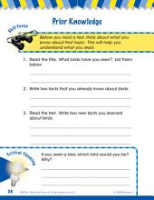 Read & Succeed Comprehension Level 1: Prior Knowledge Passages and Questions