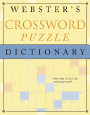 Webster's Crossword Puzzle Dictionary