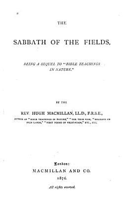 The Sabbath of the Fields PDF