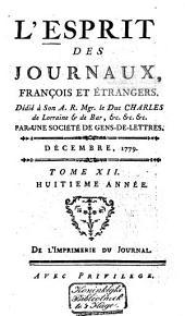 L'Esprit des journaux franc̜ais et étrangers: Volume70