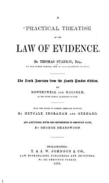 A Practical Treatise of the Law of Evidence PDF