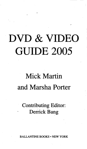 DVD and Video Guide 2005
