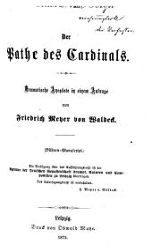 Der Pathe des Cardinals: Dramatische Anecdote in 1 Aufzuge. (Bühnen-Manuscript.)