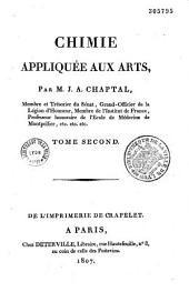Chimie appliquée aux arts: Volume1