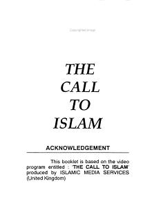 The Call to Islam PDF