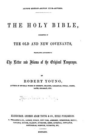 The Holy Bible  Consisting of the Old and New Covenants PDF