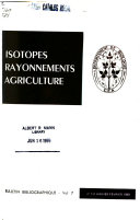 Isotopes Rayonnements Agriculture