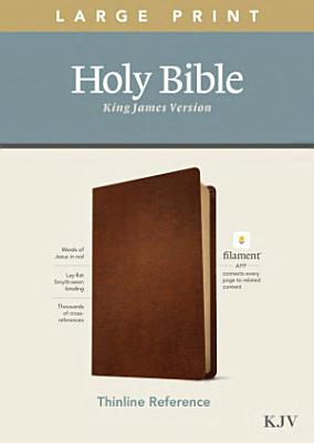 KJV Large Print Thinline Reference Bible  Filament Enabled Edition  Red Letter  Genuine Leather  Brown