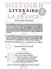 Histoire littéraire de la France