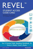 Revel for a Concise Public Speaking Handbook    Access Card PDF