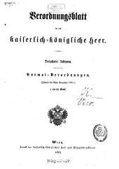 Verordnungsblatt für das Kaiserlich-Königliche Heer: Band 13