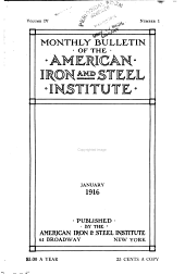 Bulletin of the American Iron and Steel Institute: Volume 4