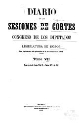 Diario de las sesiones ...: Legislatura ..., Volumen 7