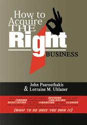 How to Acquire the Right Business PDF