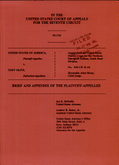 United States of America V. Olive: Issues 95-1735