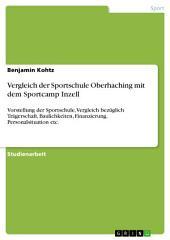 Vergleich der Sportschule Oberhaching mit dem Sportcamp Inzell: Vorstellung der Sportschule, Vergleich bezüglich Trägerschaft, Baulichkeiten, Finanzierung, Personalsituation etc.