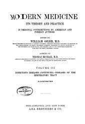 Modern Medicine, Its Theory and Practice: In Original Contributions by American and Foreign Authors, Volume 3