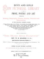 Boys  and Girls  New Pictorial Library of Prose  Poetry and Art PDF