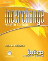 Interchange Intro Teacher s Edition with Assessment Audio CD CD ROM PDF