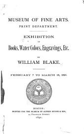 Exhibition of Books, Water Colors, Engravings, Etc