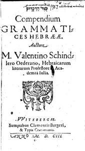 Qisur ha-diqduq. Compendium grammatices Hebraece