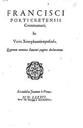 Commentarii in varia Xenophontis opuscula
