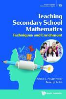 Teaching Secondary School Mathematics  Techniques And Enrichment PDF