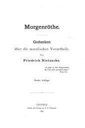 Nietzsche's Werke: Morgenröthe