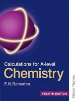 Calculations for A level Chemistry PDF