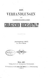 Verhandlungen der Geologischen Bundesanstalt: Band 1907