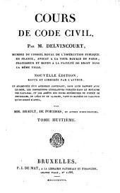 Cours de code civil: Volume8