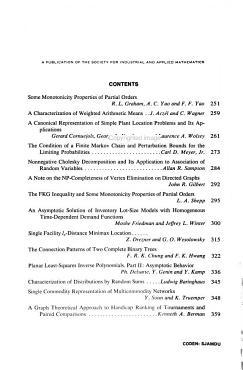 SIAM Journal on Algebraic and Discrete Methods PDF