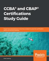 CCBA   and CBAP   Certifications Study Guide PDF