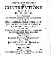 Disp. iur. de contributione