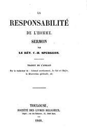 La responsabilité de l'homme: sermon