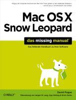 Mac OS X Snow Leopard  Das Missing Manual PDF