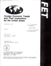 Foreign Economic Trends and Their Implications for the United States PDF