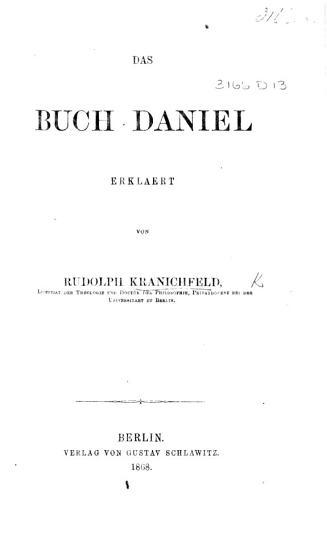 Das Buch Daniel PDF