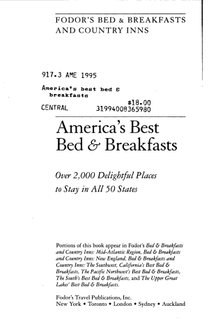 America s Best Bed and Breakfasts