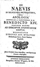 Ludovici Ant. Muratori De naevis in religionem incurrentibus: dissertatio