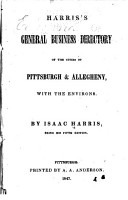 Harris s General Business Directory of the Cities of Pittsburgh   Allegheny PDF
