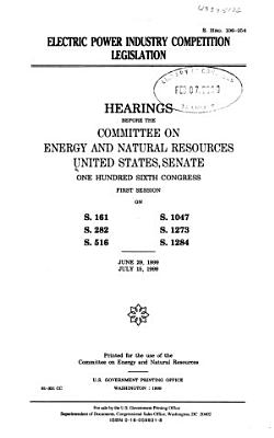 Electric Power Industry Competition Legislation PDF