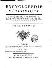 Antiquités, mythologie, diplomatique des chartres, et chronologie: A-Chlaena