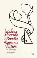 Making Meaning in Popular Romance Fiction PDF